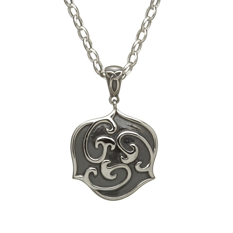 Antique Celtic Triscele Irish Pendant