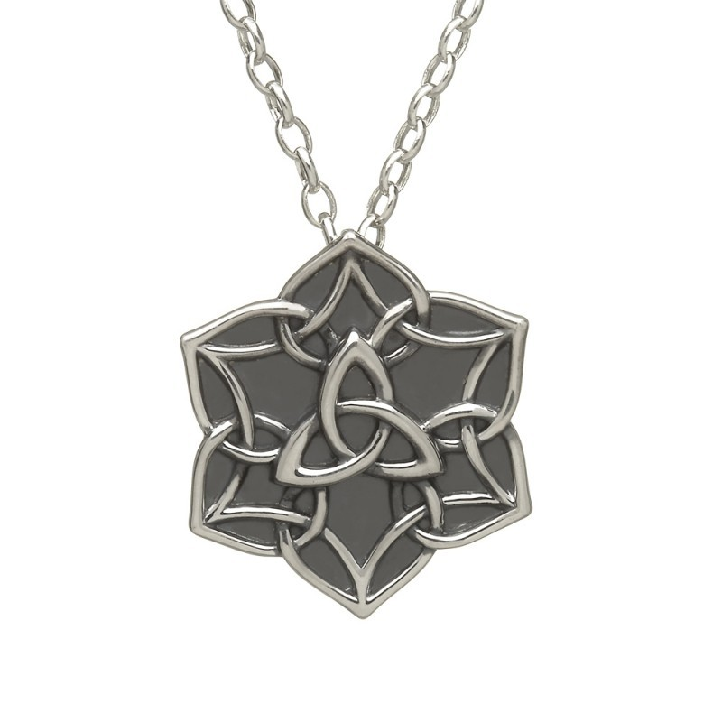 Antiqued Trinity Star Irish Pendant