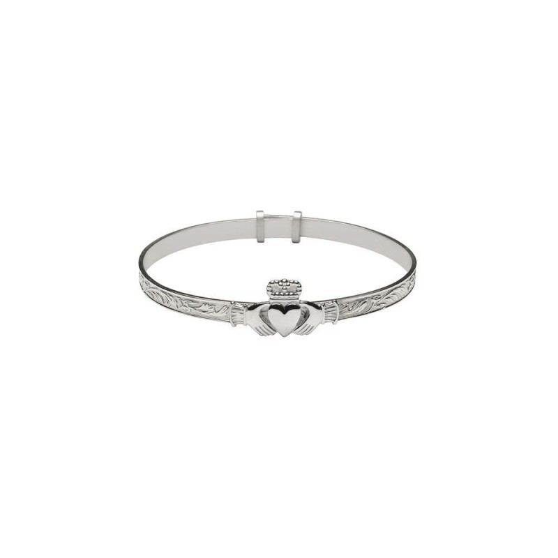 Baby Irish Claddagh Bangle Bracelet
