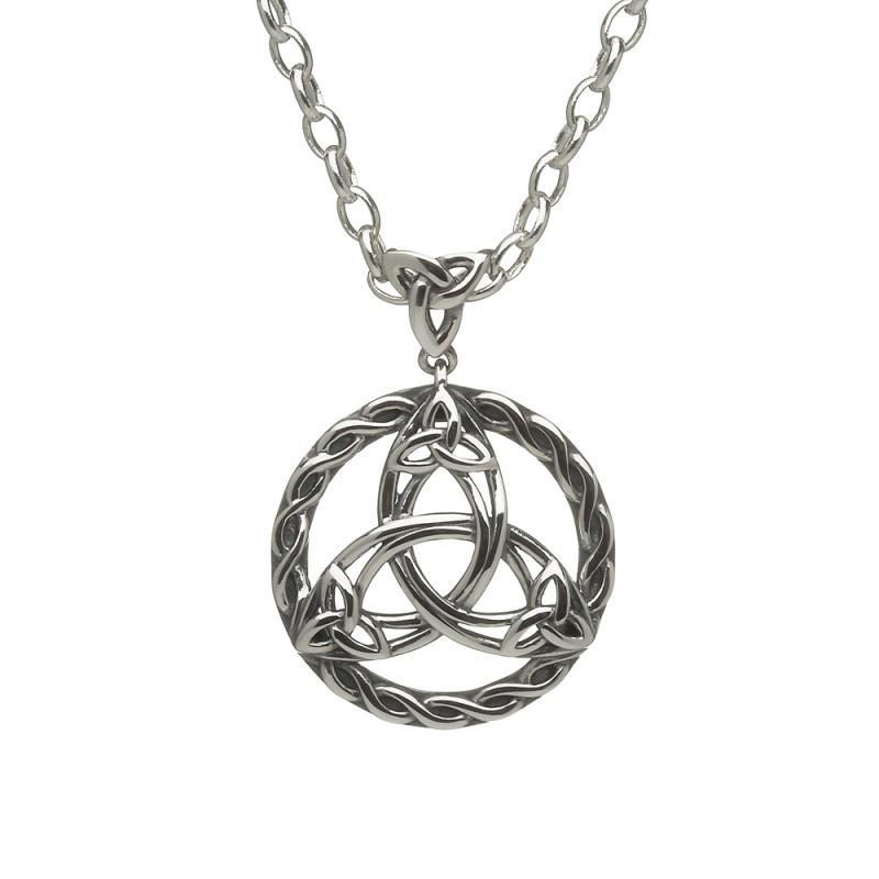 Celtic Circle Trinity Knot Irish Pendant