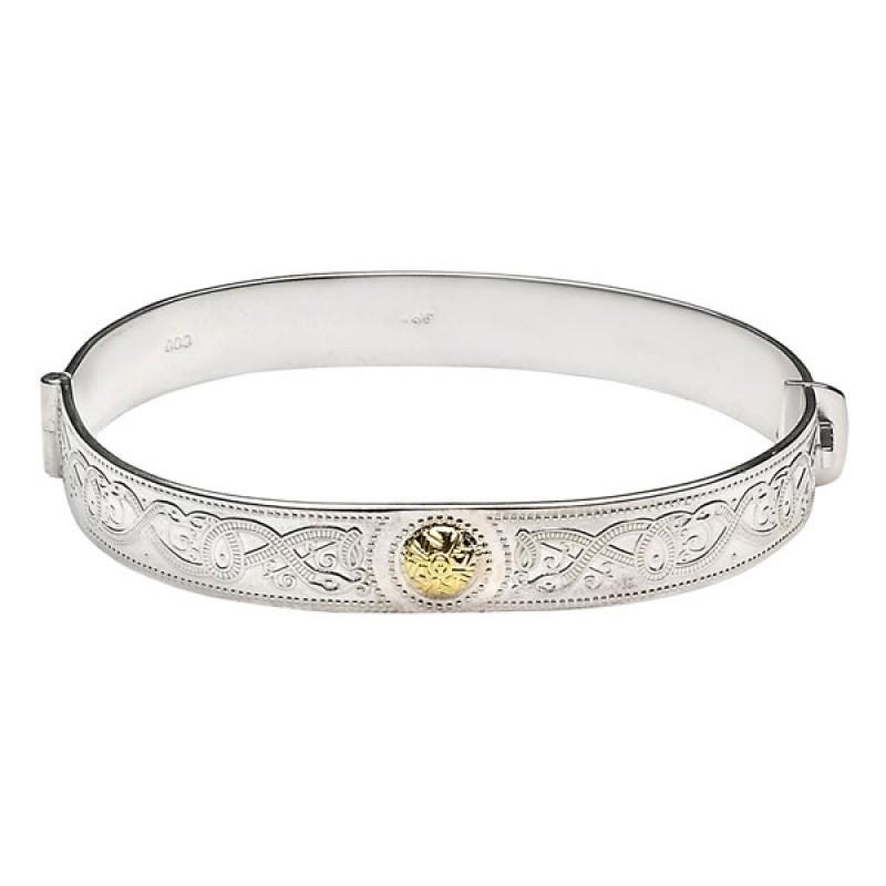 Celtic Warrior Detailed Irish Bangle Bracelet