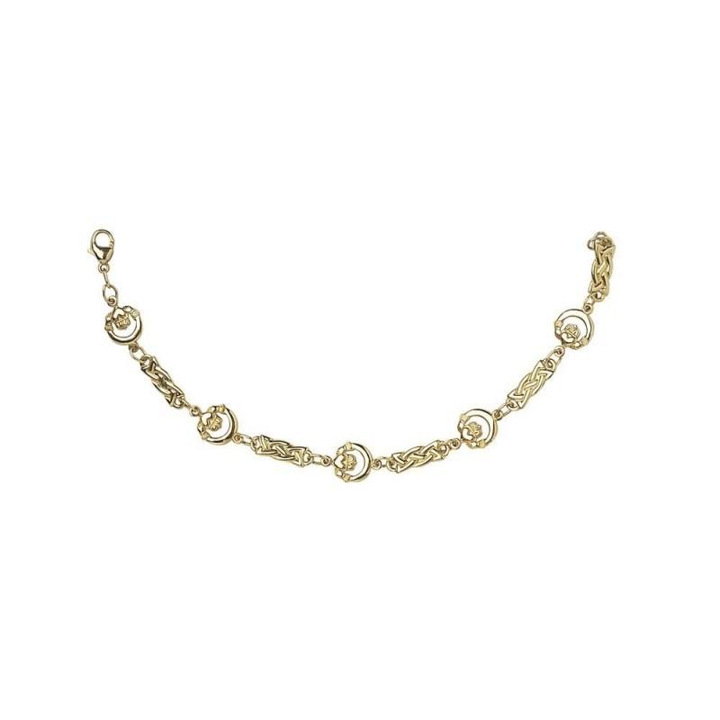 Claddagh Celtic Knot Chain Link Bracelet