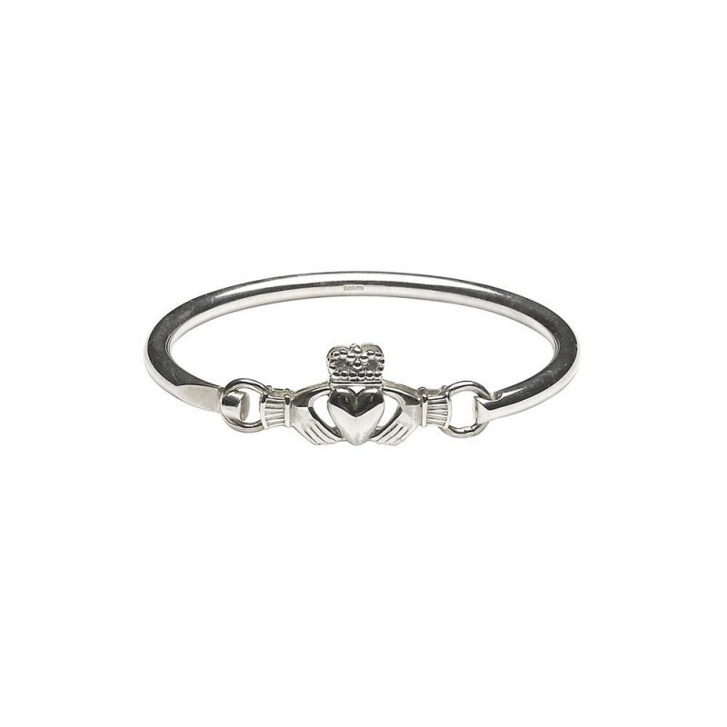 Claddagh Wire Bangle Bracelet
