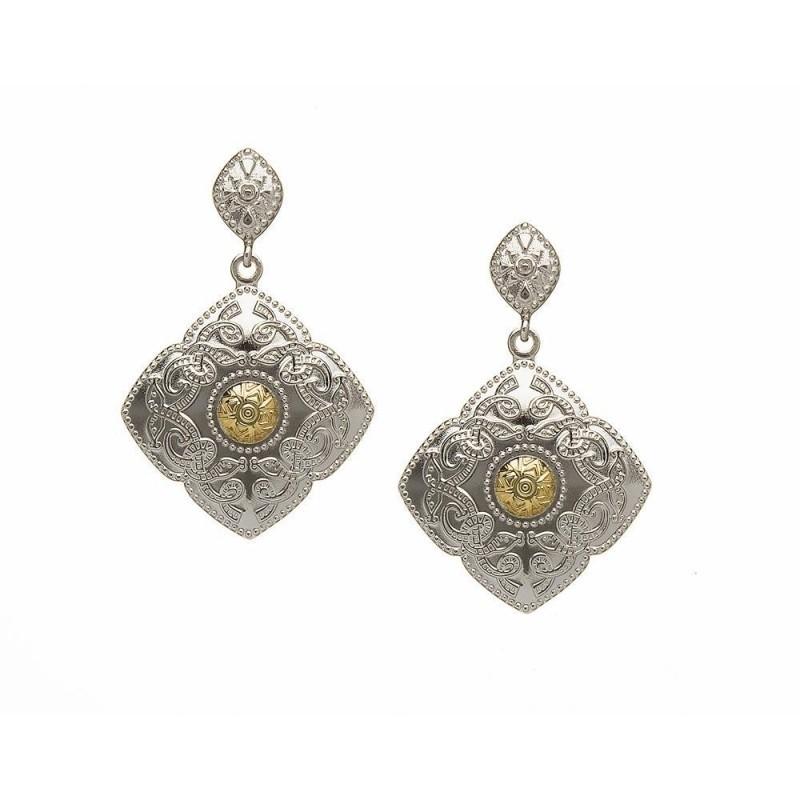 Diamond Shaped Celtic Warrior Earrings