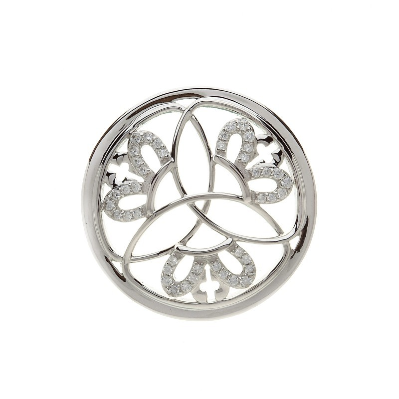 Crowned Trinity Disc for Interchangeable Pendant