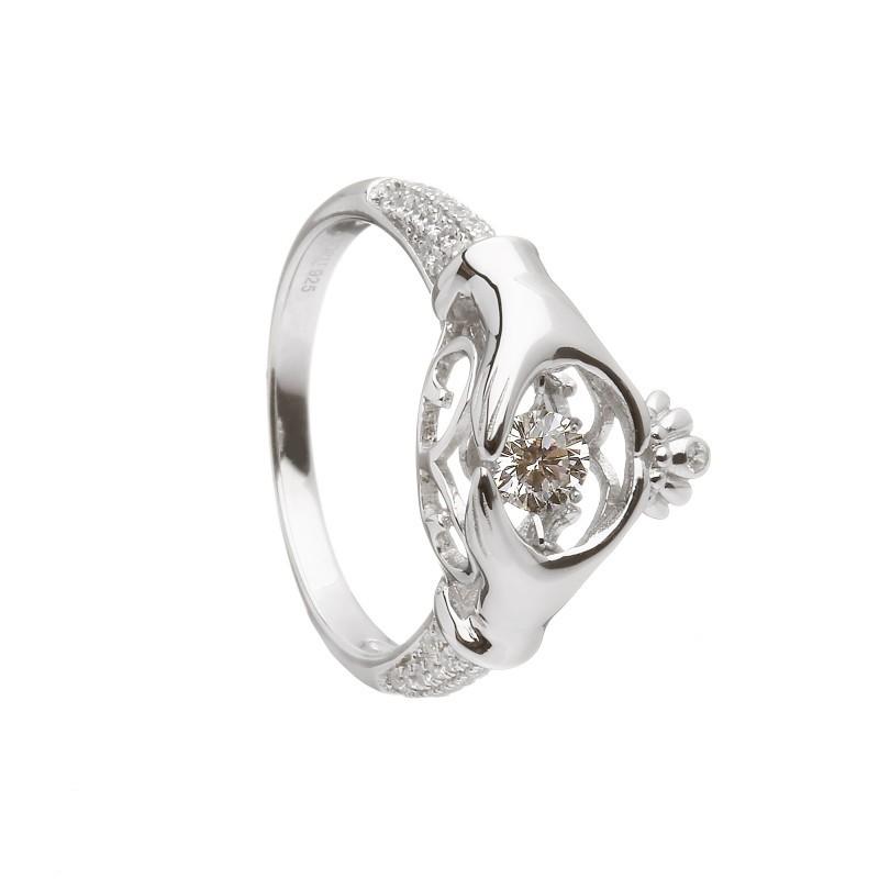 Damhsa Trinity & Claddagh Irish Ring