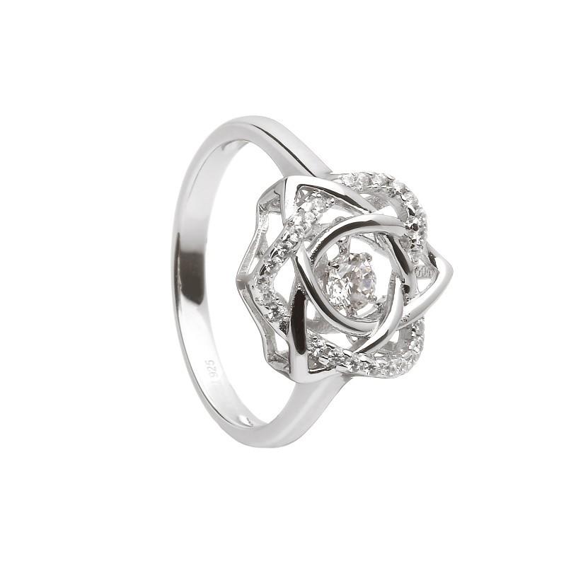 Damhsa Trinity & Heart CZ Ring