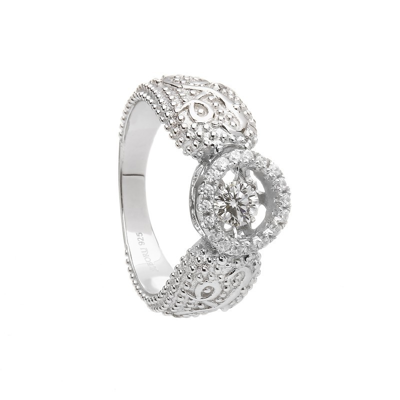 Damhsa Woodquay Ring with Dancing CZ