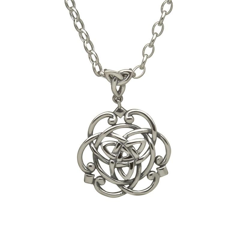 Filigree Celtic Trinity Irish Pendant