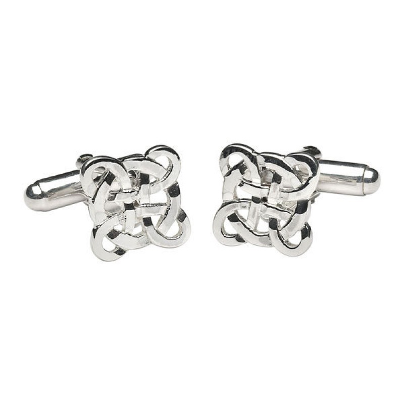 Filigree Irish Celtic Knot Cuff Links