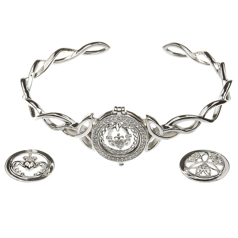 Interchangeable Disc Irish Celtic Bangle Bracelet