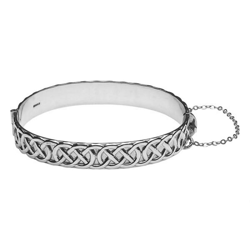 Irish Celtic Rope Bangle Bracelet