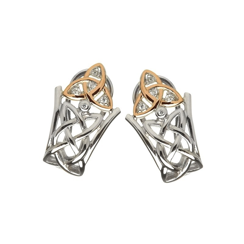 Irish Trinity Knot Drop Earrings