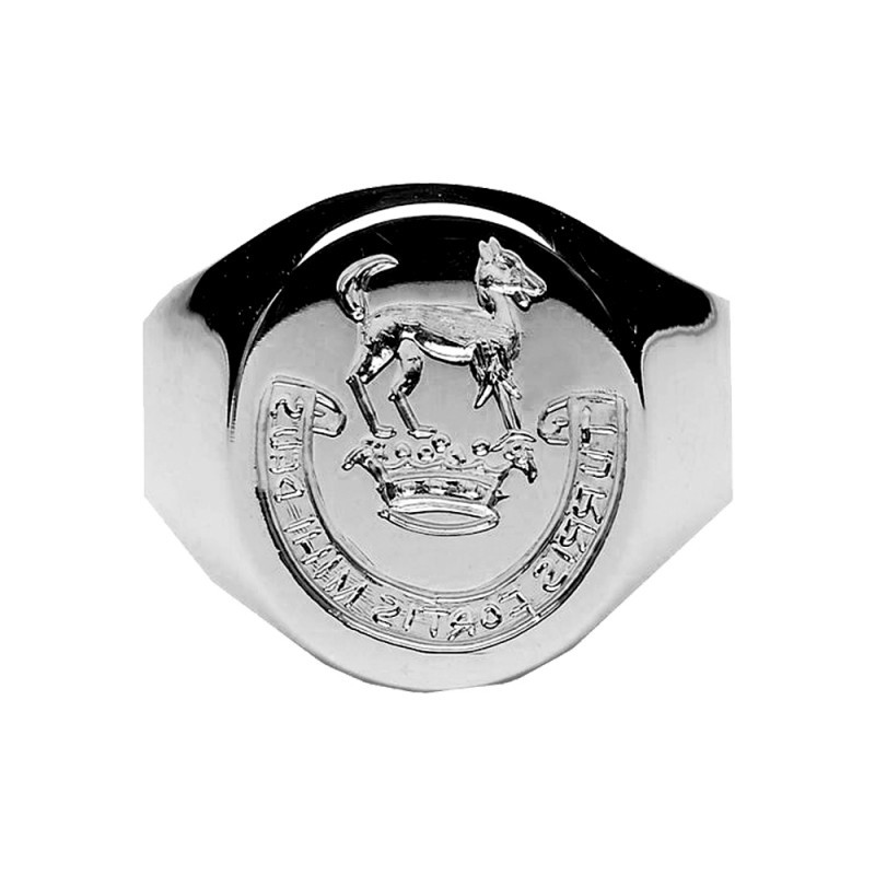 Ladies Hand Engraved Seal Ring Sterling Silver
