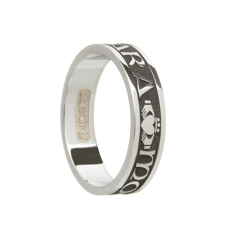 Ladies Mo Anam Cara My Soul Mate Irish Ring Sterling Silver