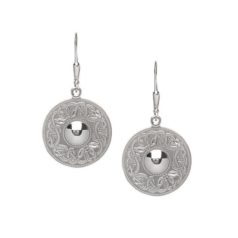 Large Celtic Warrior Earrings-Plain