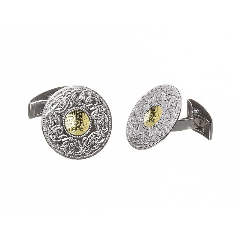 Large Irish Celtic Warrior Cuff Links