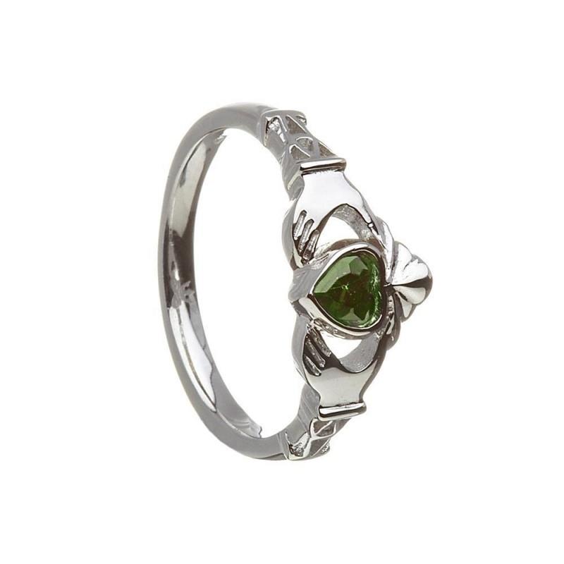 May-Emerald Birthstone Claddagh Ring