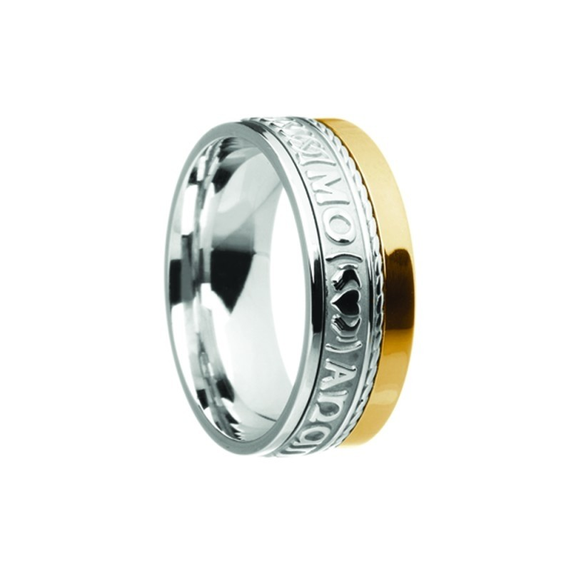 Mo Anam Cara Siorai II My Soul Mate Irish Ring Two Tone