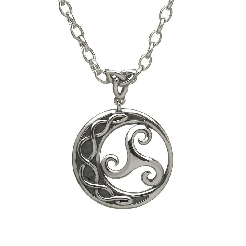 Newgrange Triscele Circle Irish Pendant