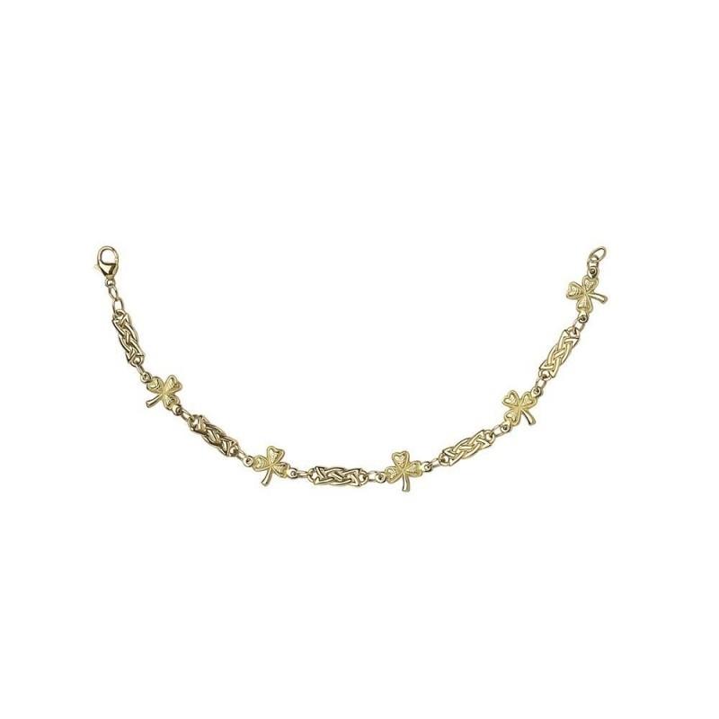 Shamrock Celtic Knot Chain Link Bracelet