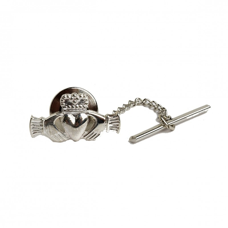 Straight Irish Claddagh Tie Tac
