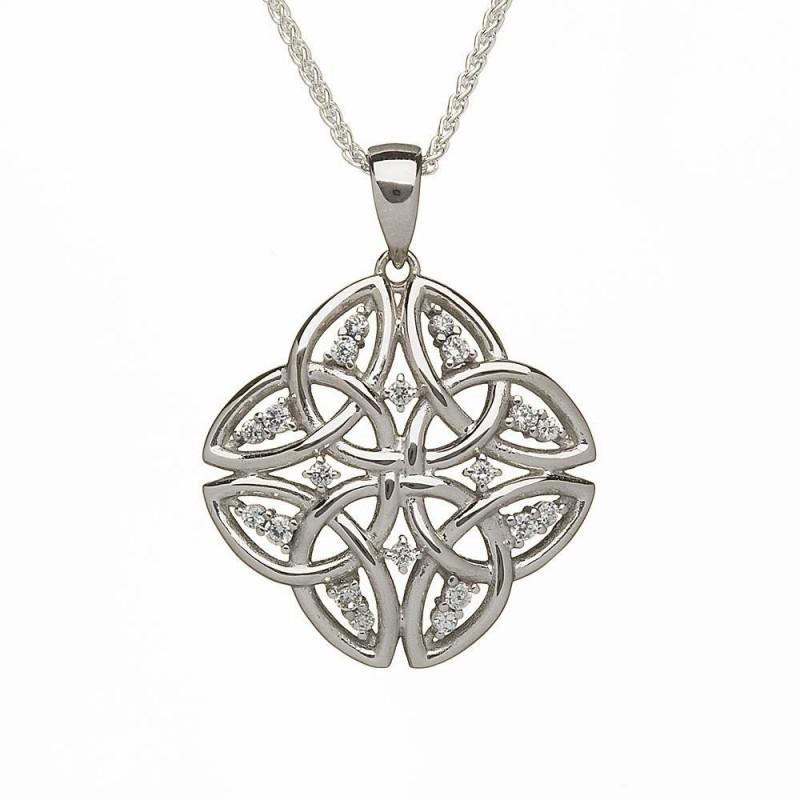 Tetrad Trinity Knot Irish Pendant