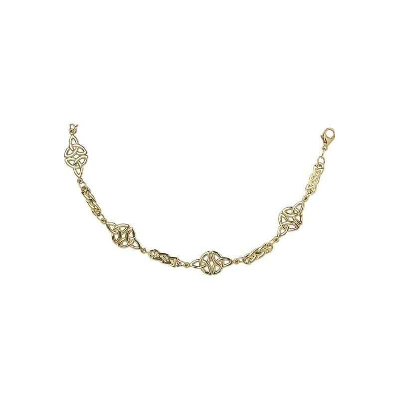 Trinity Celtic Knot Chain Link Bracelet