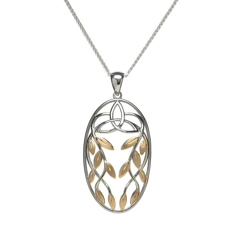 Trinity Knot Petals Irish Pendant