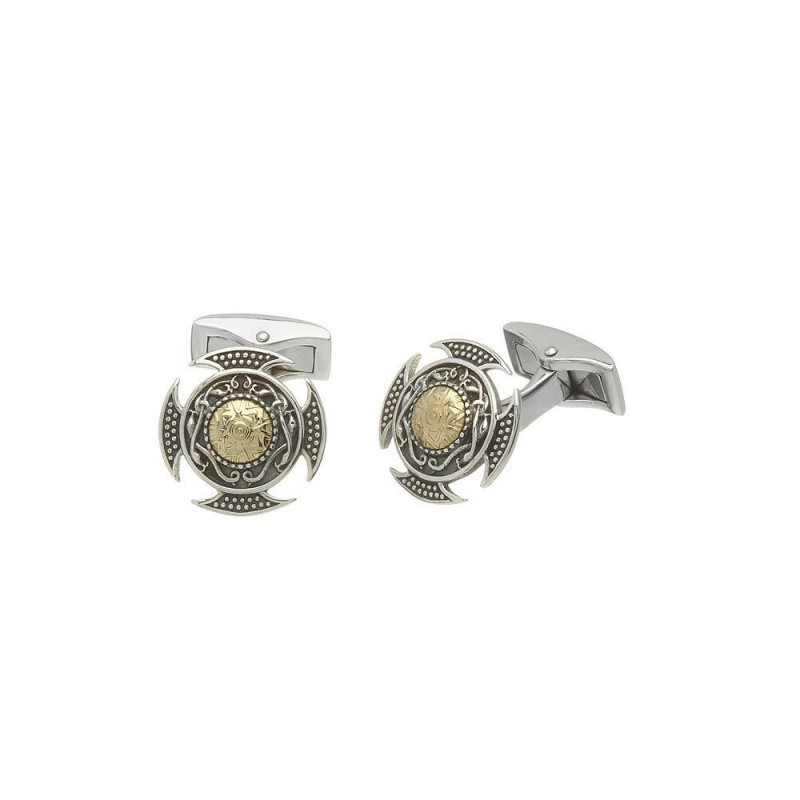 Wood Quay Oxidised Irish Cuff Links