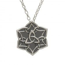 Antiqued Trinity Star Irish Pendant