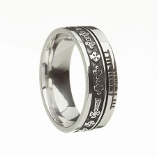 Celtic Cross Faith Irish Wedding Band Sterling Silver
