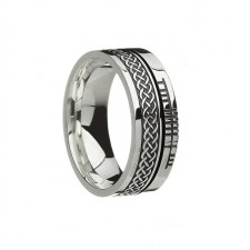 Celtic Knot Faith Irish Wedding Band Sterling Silver