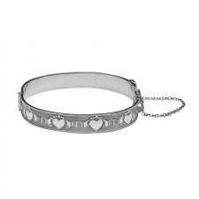 Claddagh Gaelic Irish Bangle Bracelet