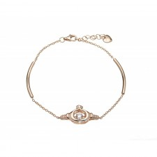 Damhsa Rose Claddagh Dancing CZ Irish Bracelet