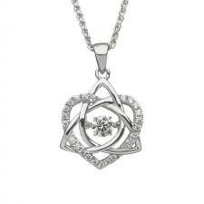 Damhsa Trinity & Heart Irish Pendant