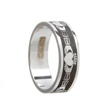 Gents Claddagh Wedding Band Sterling Silver