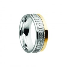 Grá Go Deo Siorai II Love Forever Irish Ring White Yellow Gold