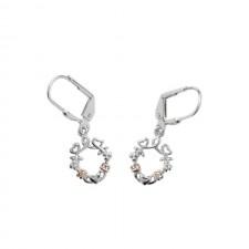 Heart Shamrock Claddagh Irish Earrings
