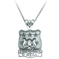 Heraldic Shield Irish Pendant With Coat of Arms Sterling Silver