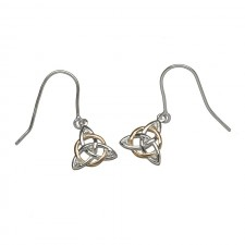 Intertwined Irish Trinity Knot Earrings