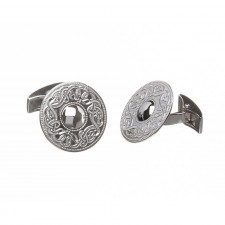 Irish Celtic Warrior Cufflinks-Plain-Large