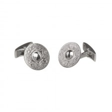Irish Celtic Warrior Cufflinks-Plain-Small