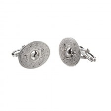 Irish Celtic Warrior Oval Cufflinks-Plain