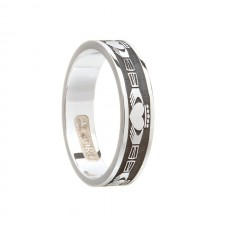 Ladies Claddagh Wedding Band Sterling Silver