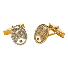 Personalized Oval Family Coat of Arms Cuff Links - Medium