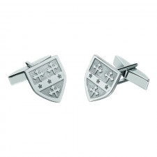 Personalized Shield Family Coat of Arms Cuff Links Sterling Silver