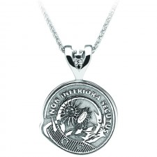 Scottish Crest Personalised Clan Pendant Sterling Silver
