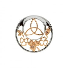 Trinity Shamrock Disc for Interchangeable Pendant