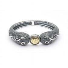 Wood Quay Oxidized Irish Bangle Bracelet